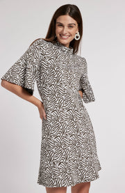 Tyler Boe - Mindy Jacquard Zebra Print Dress