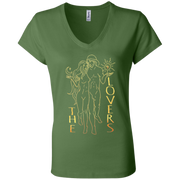 The Lovers Ladies' Tarot V-Neck T-Shirt