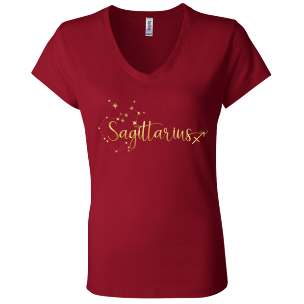 Sagittarius Ladies' Astrology V-Neck T-Shirt