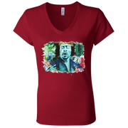 Jimi Hendrix Ladies' Astrology V-Neck T-Shirt
