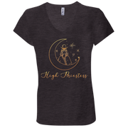 High Priestess Ladies' Tarot V-Neck T-Shirt