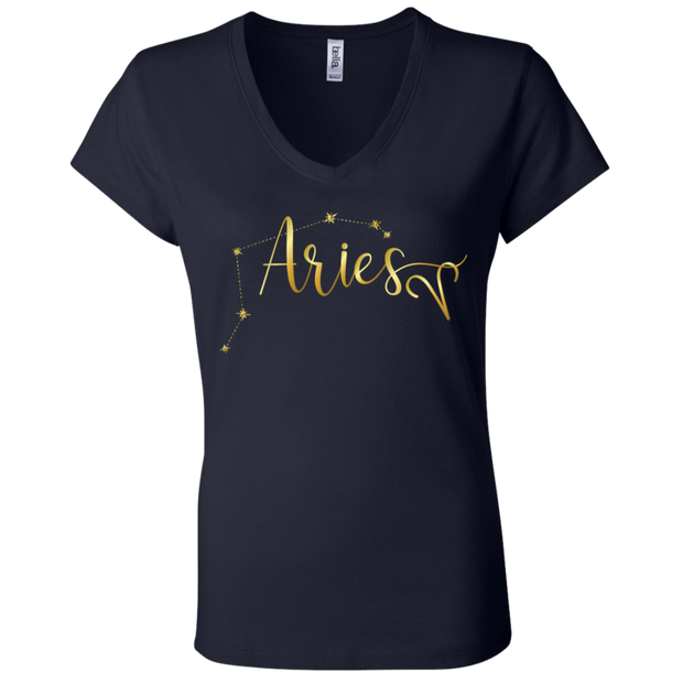 Aries Ladies' Astrology V-Neck T-Shirt