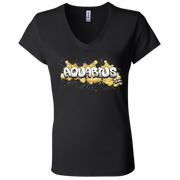 Aquarius Ladies' Astrology V-Neck T-Shirt
