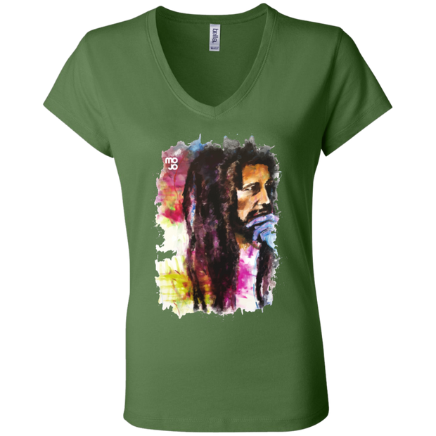 Bob Marley Ladies' Astrology V-Neck T-Shirt