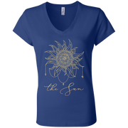 The Sun Ladies' Tarot V-Neck T-Shirt