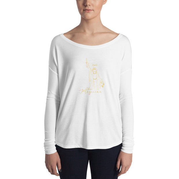 The Magician Flowy Tarot Long Sleeve Tee