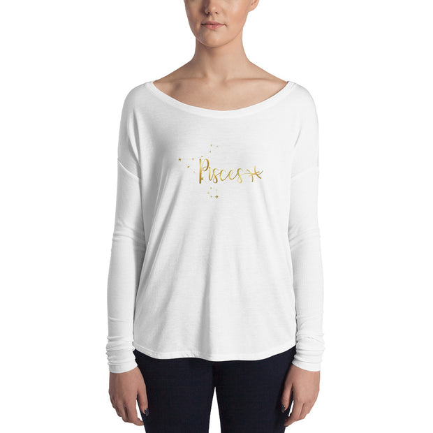 Pisces Women's Flowy Astrology Long Sleeve Tee