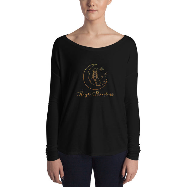 High Priestess Flowy Tarot Long Sleeve Tee