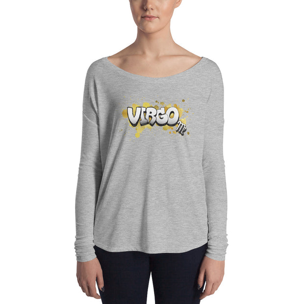Virgo Women's Flowy Astrology Long Sleeve Tee