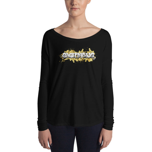 Sagittarius Women's Flowy Astrology Long Sleeve Tee