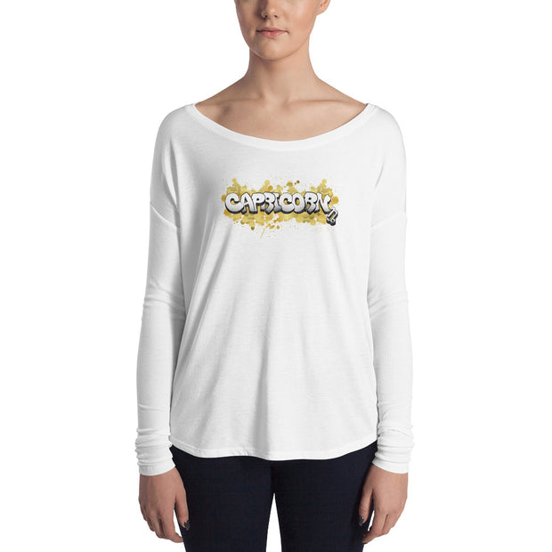 Capricorn Women's Flowy Astrology Long Sleeve Tee