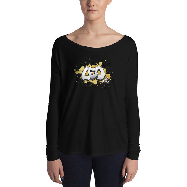 Leo Women's Flowy Astrology Long Sleeve Tee