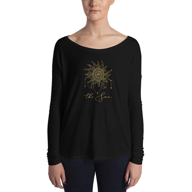 The Sun Flowy Astrology Long Sleeve Tee