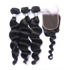 3 Bundles + Closure - Loose Wave