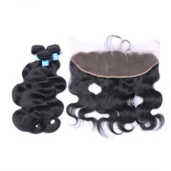 3 Bundles + Frontal - Body Wave