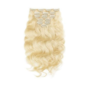 Russian Blonde Clip-In Extensions - Body Wave