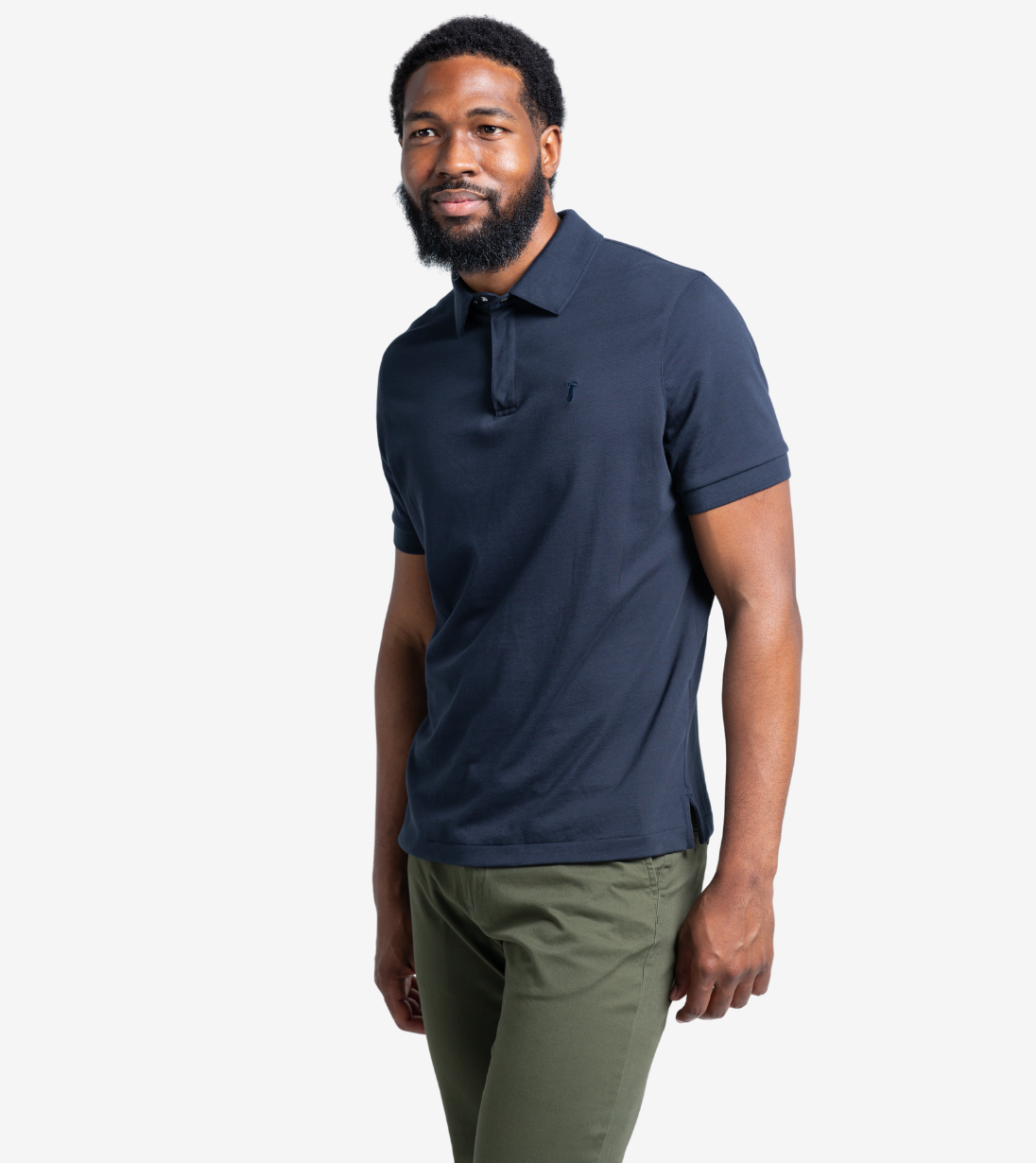 Short Sleeve Polo Baobab Clothing Navy Blue S