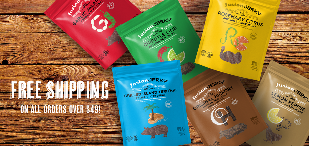 Free shipping on all orders of Fusion Jerky over $49.