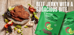 FUSION JERKY CHIPOTLE LIME. Beef jerky with a bodacious bite.