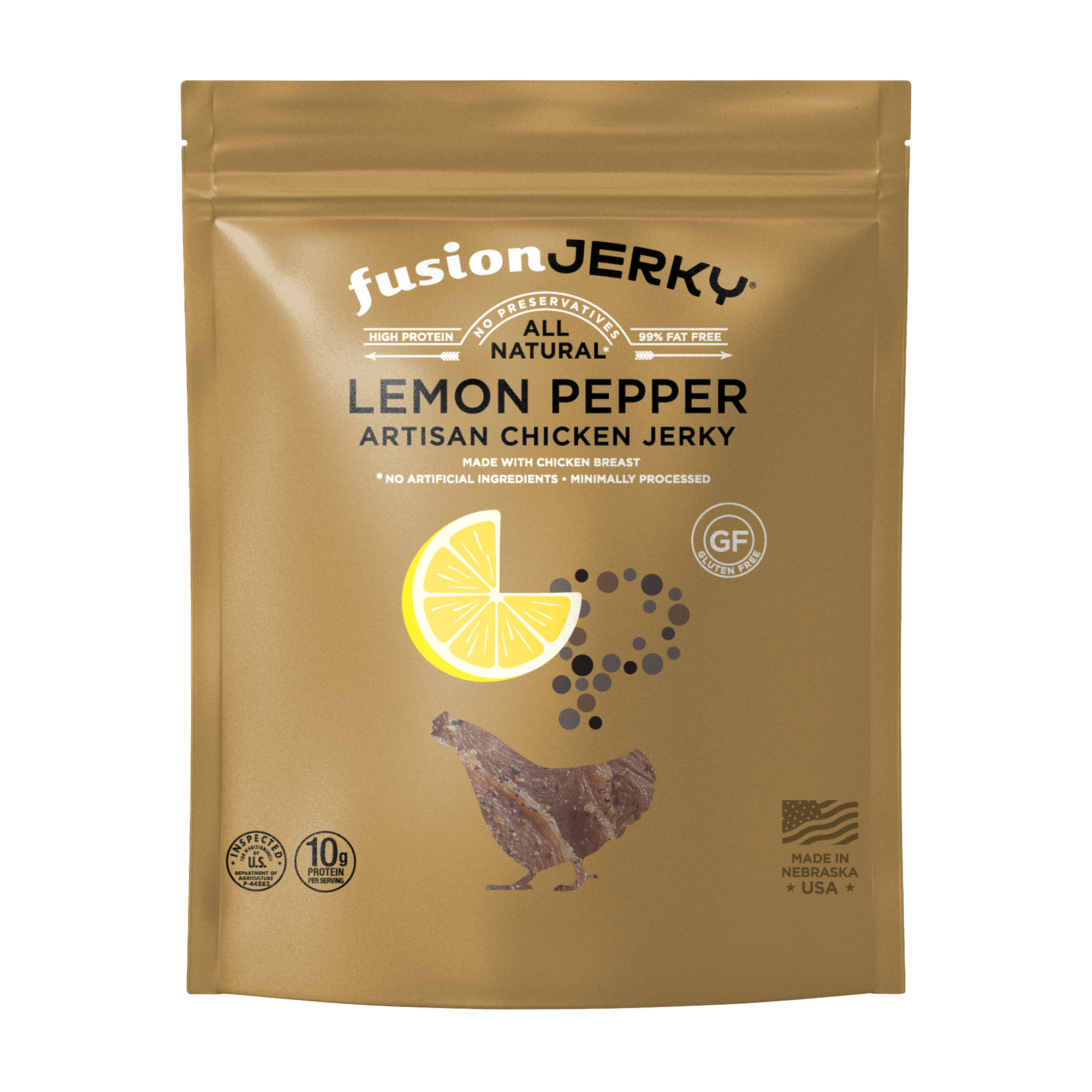Lemon Pepper Chicken Jerky — 2.75 oz - Fusion Jerky