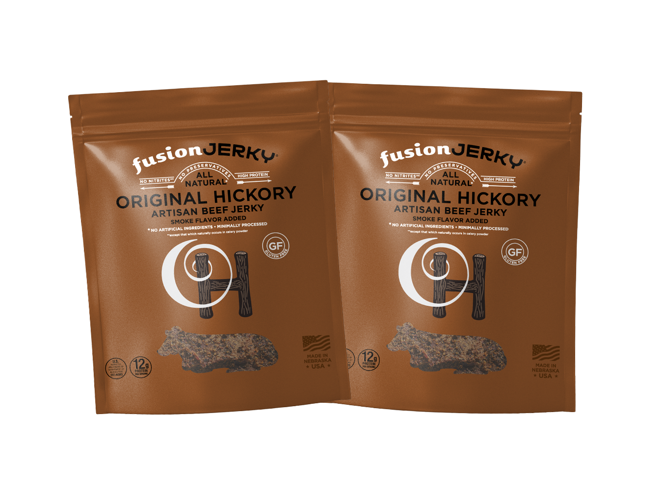Original Hickory Jerky Trial Pack Two 1 oz Packs - Fusion Jerky