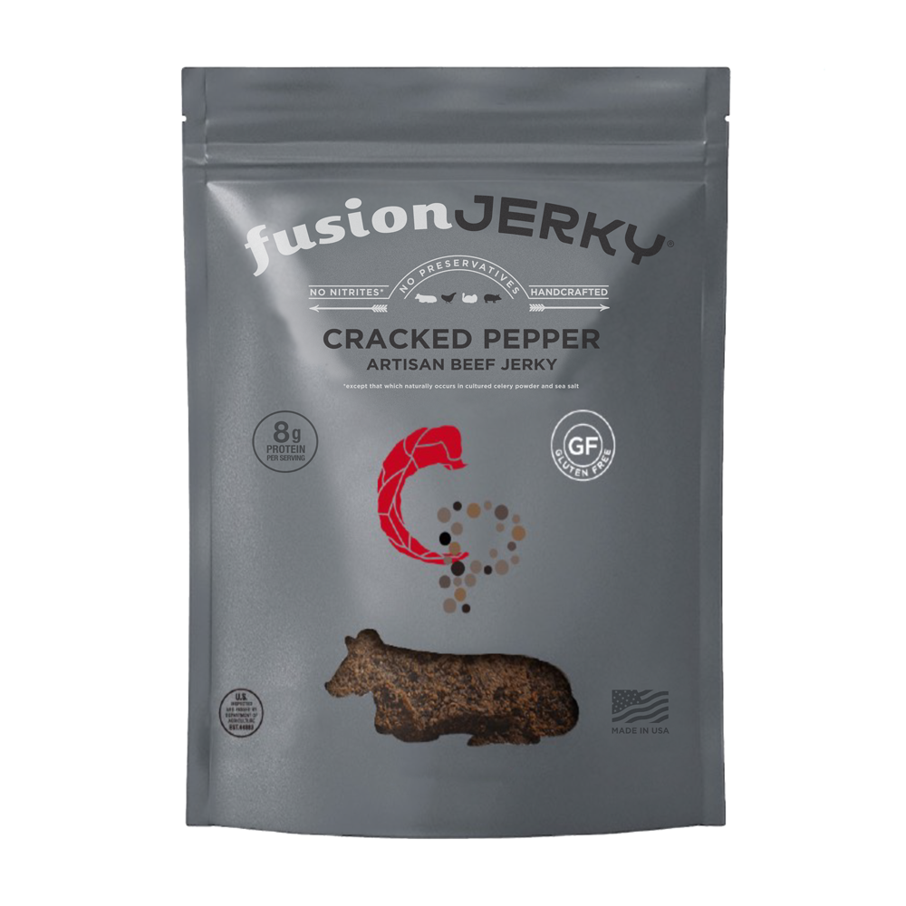 Cracked Pepper Beef Jerky - Fusion Jerky