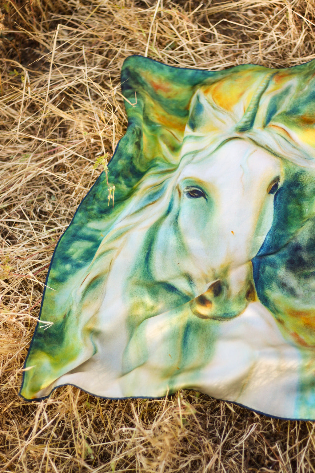 Archangel Unicorn Italian Silk Satin - 110 x 110 cm