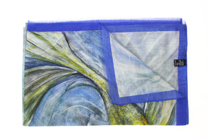 Fantail Fish Italian Silk Cotton 70 x 180 cm
