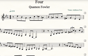 Four Solo on Tenor Sax by Quamon Fowler, Transcription by Addison Frei (To Buy Sheet Music Click Add To Cart)