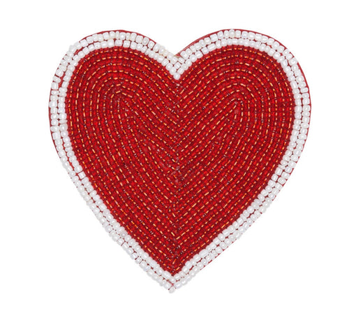 Red Heart Coaster - Set of 4