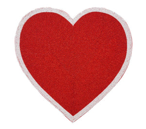 Red Heart Placemat - Set of 4