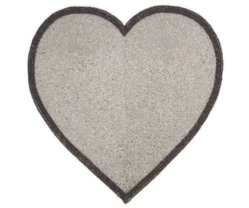 Silver Heart Placemat - Set of 4