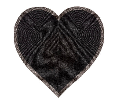 Black Heart Placemat - Set of 4