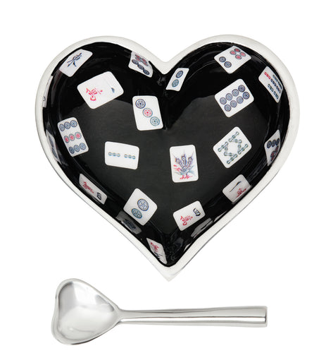 Happy Mahjong Heart with Heart Spoon