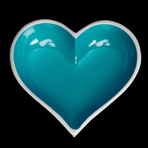Lil Aqua Heart with Heart Spoon