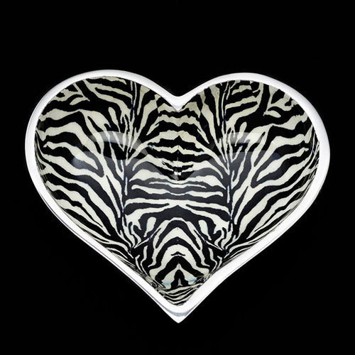 Lil Zebra Heart with Heart Spoon