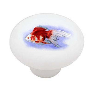 Ryukin Goldfish Ceramic Drawer Knob