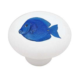 Tropical Blue Tang Ceramic Drawer Knob