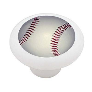 Baseball Ceramic Drawer Knob