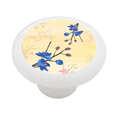 Morning Blossom Ceramic Drawer Knob