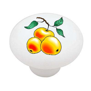 Peach Branch Ceramic Drawer Knob