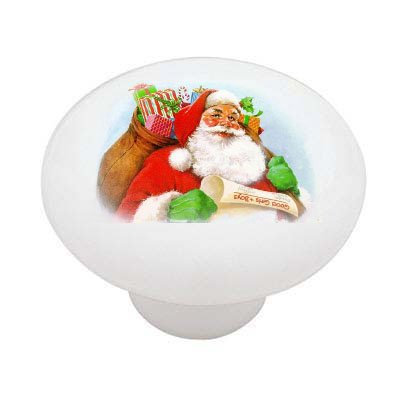 Vintage Christmas Santa Ceramic Drawer Knob