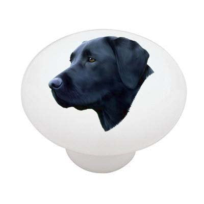 Black Lab Ceramic Drawer Knob
