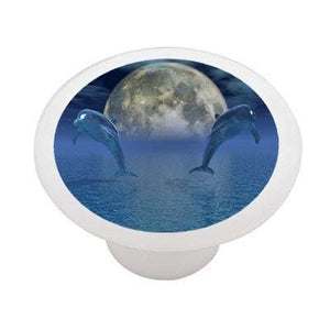 Celestial Dolphins Ceramic Drawer Knob