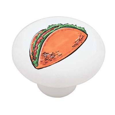 Taco Ceramic Drawer Knob