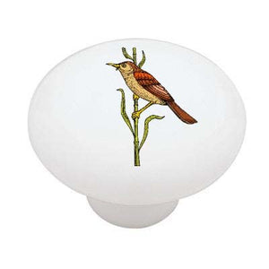 Bamboo Bird Ceramic Drawer Knob