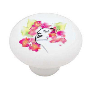 Floral Dreams Ceramic Drawer Knob