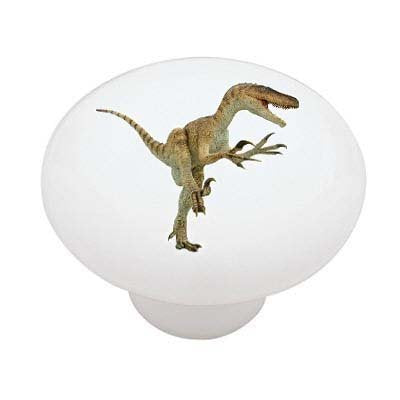 Raptor Dinosaur Ceramic Drawer Knob