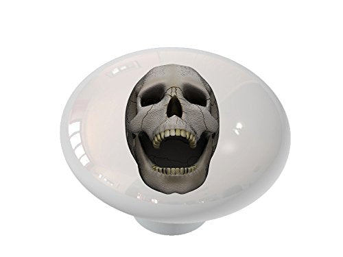 Laughing Skull Ceramic Drawer Knob