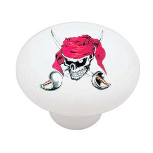 Pirate Skull and Crossed Swords Drawer Knob